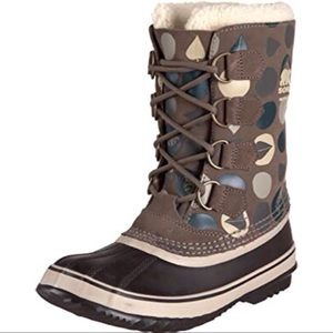 Sorel 1964 Pac Graphic Green Lace Up Winter Boots
